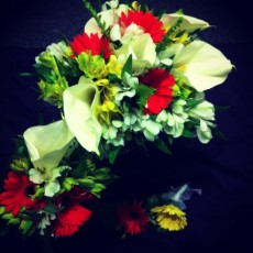 Gerbera Daisies and Lilies