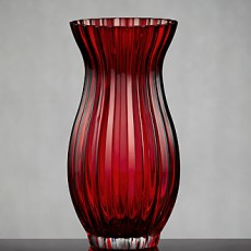 in love with red roses vase