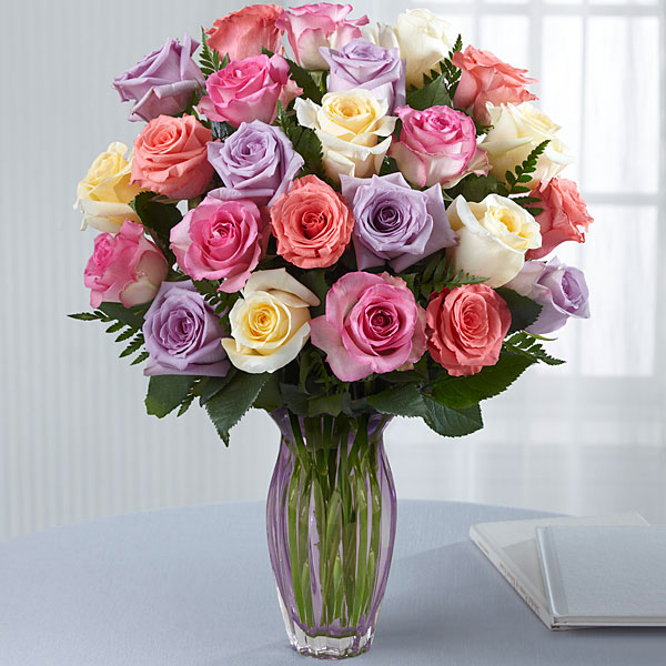 Mother\'s Day Mixed Rose Bouquet-VASE INCLUDED | Fleurs Magique Flowers
