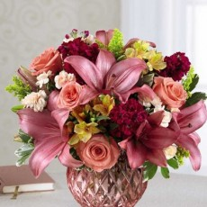 ftd pink poise bouquet flowers lg2 2016