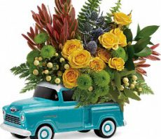 teleflora timeless chevy pickup medium
