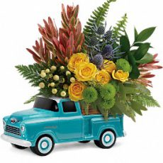 teleflora timeless chevy pickup small